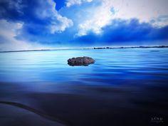 #playa #playas #azul #roca #blue #Ecuador #cielo #nubes