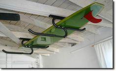 Surfboard storage overhead