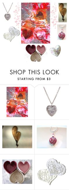 """""""Heart!"""" by keepsakedesignbycmm ❤ liked on Polyvore featuring jewelry, art, accessories, homedecor and gifts"""