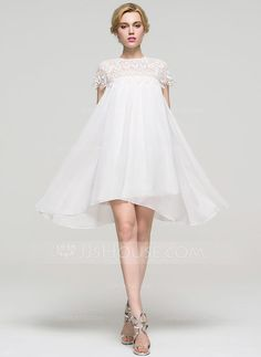 [US$ 72.49] A-Line/Princess Scoop Neck Knee-Length Chiffon Homecoming Dress (022089921)