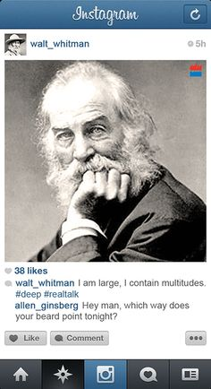 If famous Writers had Instagram (8 Pictures ft. Bukowski, Woolf, Tolstoy, Hemingway, Frost   more)