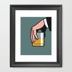 Pop Icon - Madmen 2 Framed Art Print by Greg-guillemin - $37.00