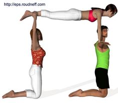 PE ACTIVITIES This page is a description of activities we do in Physical Education at Rainbow Elementary. This is an ongoing list and mor. 3 Person Yoga Poses, Partner Acrobatics, Acro Yoga Poses, Cheer Routines, Pe Activities, Cheer Stunts, Physical Education, Gymnastics, Physics