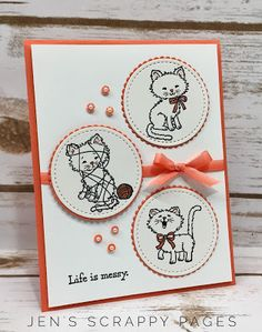 Jen's Scrappy Pages - Pretty Kitty Stampin' Up!