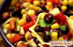 Bean, Corn and Avocado Salad Recipe via @SparkPeople