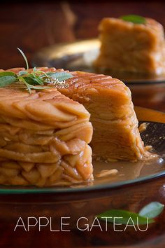 This Apple Gateau is a simple layering of sliced apples baked at 175 degrees for 12 hrs, filling your whole house with holiday aroma.