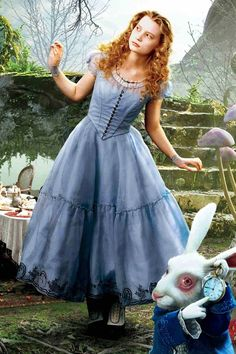 Alice, played by Mia Wasikowska in the new Alice in Wonderland (2010)