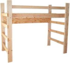 BUILDING PLANS FOR A MID-HEIGHT LOFT BED | Find house plans