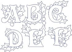 embroidery+letters | embroidery designs offers custom digitizing machine embroidery designs ...