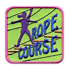 2 x 2 Inches **IRON-ON backing for easy & Snappy application** Our girl themed Rope Course fun patch is perfect for recognizing the accomplishments of the girls in your life who complete this skill. http://www.snappylogos.com/Rope-Course-Fun-Patch/productinfo/3322/