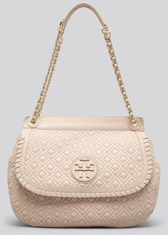 TORY BURCH Shoulder Bag Marion Quilted Small Saddle