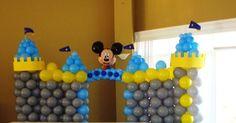 Mickey Mouse Balloon Castle  www.partyfiestadecor.com