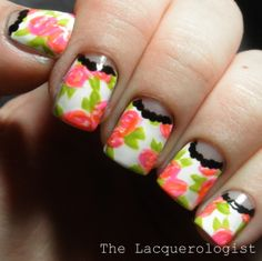 The Lacquerologist: Bold Floral Half-Moons!