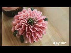 앙금플라워 비단향꽃무(스톡) 꽃짜기 stock flower piping techniques - YouTube