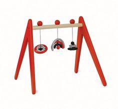 Retro wooden baby gym