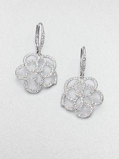 Adriana Orsini - Pavé Crystal Floral Drop Earrings - Saks.com