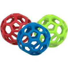 JW Pet Hol-EE Roller Dog Toy is a versatile toy with the durability you've been searching for. Rubber gives it strength, bounce and a soft texture while the unique open design allows you to stash some treats inside. Offered in assorted colors. Please allow us to choose one for you.