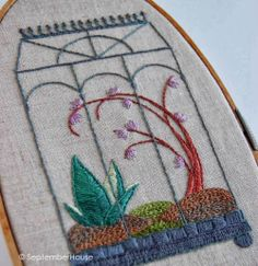 bordado terrario patrones de bordado a mano caso Wardian bordado de efecto invernadero en septemberhouse