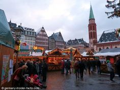 Frankfurt Christmas market at twilight