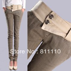 Cheap Pants & Capris on Sale at Bargain Price, Buy Quality fashion cropped pants, fashion pants women, fashion jewelry free shipping from China fashion cropped pants Suppliers at Aliexpress.com:1,Item Type:Full Length 2,Waist Type:Mid 3,Decoration:Button,Pockets,Panelled 4,Pattern Type:Striped 5,Product color:Khkai