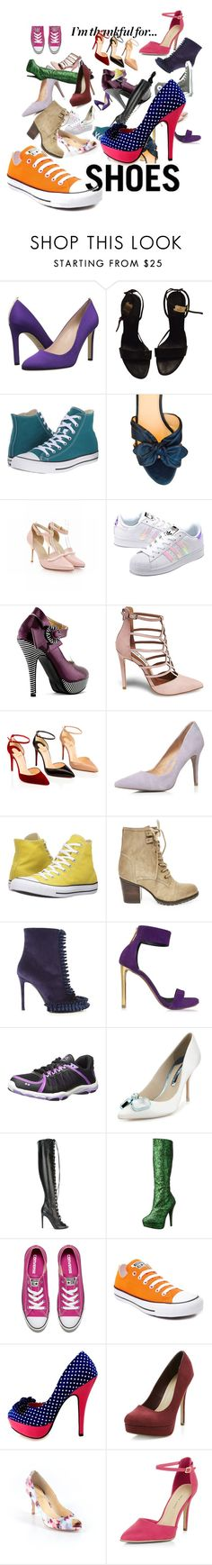 """""""thankful for SHOES!!!!!"""" by the-pug-life ❤ liked on Polyvore featuring SJP, Gucci, Converse, Prada, adidas Originals, Steve Madden, Dorothy Perkins, Marco de Vincenzo, Roberto Cavalli and Rykä"""