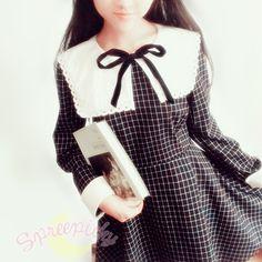 Sailor School Uniform Vintage Grids Dress Free Ship SP141341 · SpreePicky · Online Store Powered by Storenvy