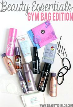 What do you pack in your gym bag? This post has great ideas on what beauty products to pack to make sure you're ready for anything!!