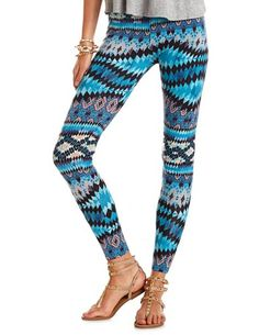 Pastel Tribal Cotton Legging: Charlotte Russe