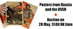 AntikBar's next online auction will feature propaganda and advertising posters from Tzarist Russia and the USSR: https://www.liveauctioneers.com/catalog/88585_posters-from-russia-and-the-ussr/. The majority of the posters in this auction are propaganda posters issued in the Soviet Union, some under Joseph Stalin. There are several examples of rare WWI bond posters as well as rare WWII posters. Advertising is represented by Constructivist designs from the NEP era and the 1950s. AntikBar.co.uk
