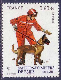 German Shepherd Dogs France MNH stamp 2011