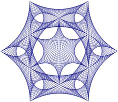 Line design / string art / parabolic shapes from straight lines