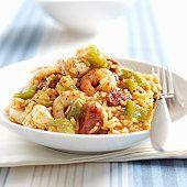 Know Your Jambalaya, a classic Cajun Rice Dish Healthy Jambalaya, Homemade Jambalaya, Slow Cooker Jambalaya, Jambalaya Recipe, Slow Cooker Pasta, Spicy Sausage, How To Cook Sausage, How To Cook Chicken, Cooked Chicken