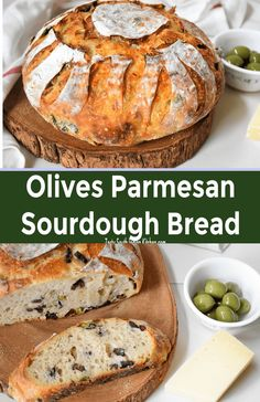 Delicious Olives Parmesan Sourdough Bread looks perfect treat with mixed olives and nutty Parmesan cheese with crusty bread. Ciabatta, Naan, Easy Cooking, Cooking Recipes, Kitchen Recipes, Chef Recipes, Soup Recipes, Parmesan, Olive Bread