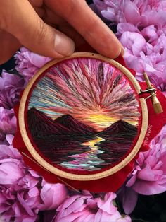 Billowing Clouds And Rainbow-Hued Sunsets Created With Textured Embroidery Russian embroidery artist Vera Shimunia began her landscape embroidery practice in…