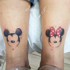 Mickey and Minnie Mouse Tattoos . Mickey and Minnie Mouse Tattoos . Love Disney and Mickey Image Mickey Tattoo, Mickey Mouse Tattoos, Disney Couple Tattoos, Disney Tattoos Small, Small Wrist Tattoos, Tattoo Disney, Matching Disney Tattoos, Tattoo Small, Trendy Tattoos