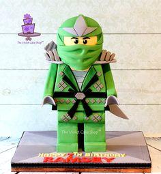 Ramsey's 7th Birthday Green Ninja from Lego Ninjao - front ii - twm TVCS
