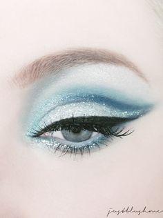 Modern Fairytale / Cinderella / karen cox. Glamorous Cateye make-up.