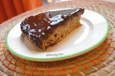Bolo vegano simples com cobertura de chocolate #receita #vegana #vegetariana #vegan #vegetarianismo #veganismo