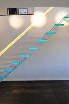 glass stair steps