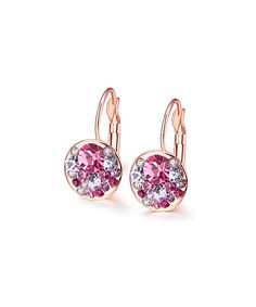 2d6865cbc Pink Cubic Zirconia & Rose Gold Periwinkle Drop Earrings by Riakoob # zulily #zulilyfinds