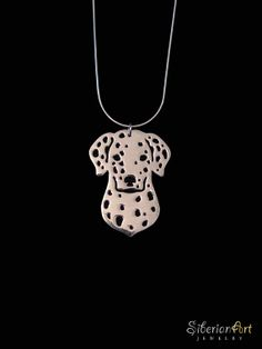 Dalmatian jewelry sterling silver pendant by SiberianArtJewelry, $99.00