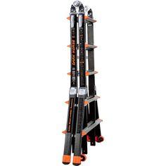 Little Giant Dark Horse Multipurpose Fiberglass Ladder — 3–5 Ft. Stepladder/7–11 Ft. Extension Ladder, Model# 13 Dark Horse | Ladders Stepstools| Northern Tool + Equipment