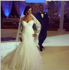 Lace Long Sleeves Mermaid Wedding Dresses Beaded Illusion Court Train Sexy Bridal Gowns_Mermaid Wedding Dresses_Wedding Dresses_Buy High Quality Dresses from Dress Factory Cheap Bridal Dresses, 2015 Wedding Dresses, Wedding Dresses Plus Size, Plus Size Wedding, Wedding Attire, Bridal Gowns, Wedding Gowns, Ivory Wedding, 2017 Wedding