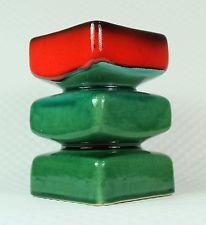sixties op art pop art VASE steuler zalloni rot grün 60er 70er jahre
