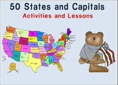 This download has many activities, games, centers, and ideas of what to do when teaching States and Capitals. Students will be learning all 50 stat...