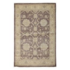 """Oushak Collection Oriental Rug, 4'3"""" x 6'5"""""""