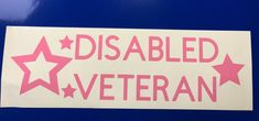 Disabled Veteran Stars Pink Vinyl Decal Sticker Window Car Electronics | eBay Motors, Parts & Accessories, Car & Truck Parts | eBay!