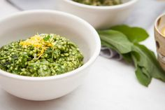 Creamy Spinach Buckwheat Risotto