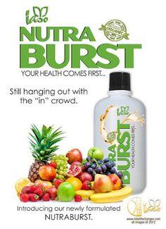 Usted obtendrá una maravillosa mezcla de alimentos Super NutraBurst con sus beneficios para la salud. Contiene la mayoría de las frutas y verduras y mucho más que el cuerpo necesita a diario, para llevar a cabo en su nivel óptimo.   Total Life Changes Organic Products en Facebook Whatsapp +34655725558 totallifechangescano@gmail.com