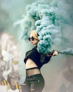 Most Amazing Female Portrait Photography - Smoke Bomb Photography, Girl Photography, Creative Photography, Fashion Photography, Photography Portraits, Photography Ideas, Photography Timeline, Female Photography, Capture Photography